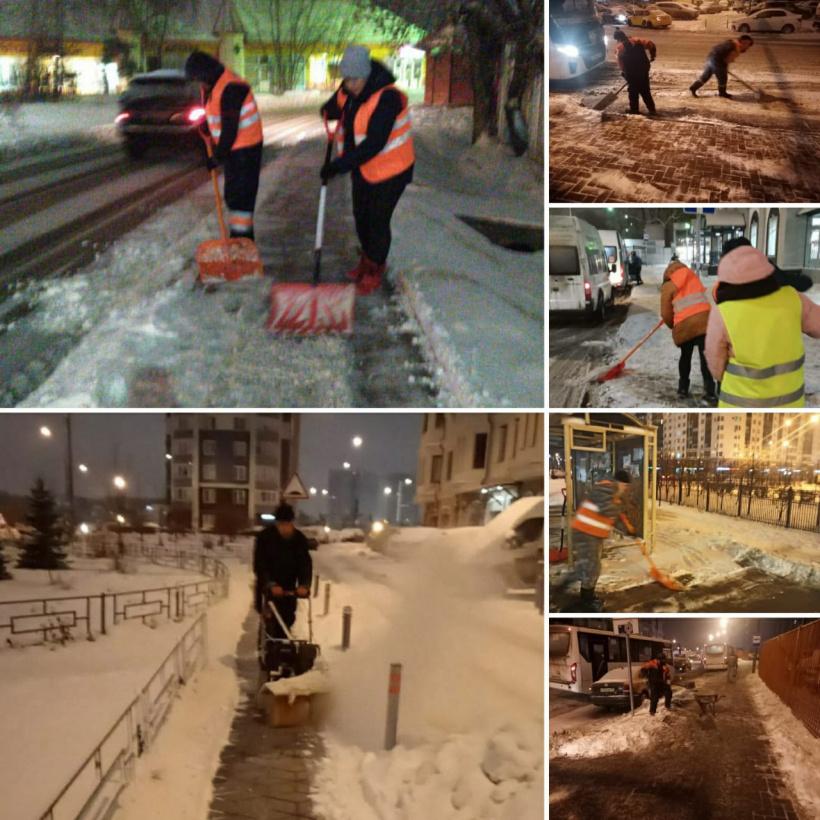 2 тысячи кубометров снега вывезли в Красногорске за сутки